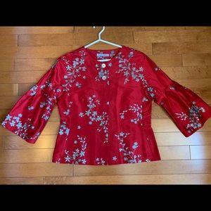 Silk Muriel Dombret jacket top